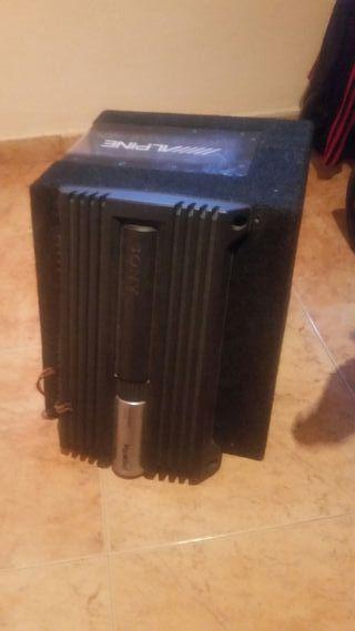 subwofen 500w mas amplificador 600w 4/3 channel xp