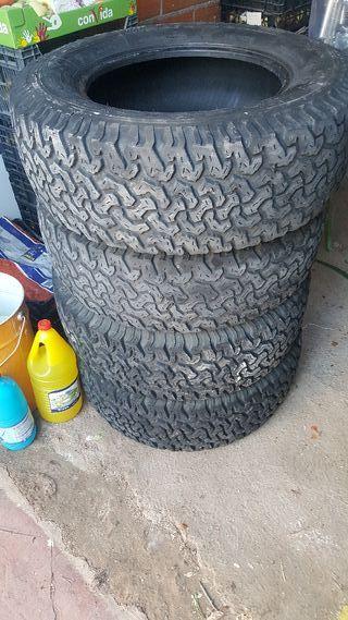 Neumáticos 4x4.