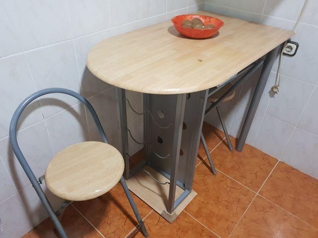 Mesa alta cocina de segunda mano por 45 € en Llíria en WALLAPOP