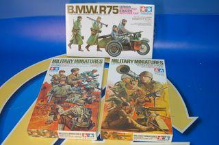 Lote de 3 Miniaturas Militares 1:35 TAMIYA