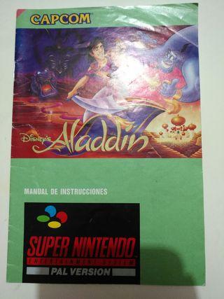 Manual Juego SNES - Aladdin