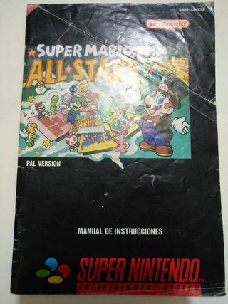 Manual Juego SNES - Super Mario All-Star