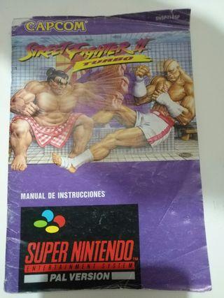 Manual Juego SNE - Street Fighter II Turbo