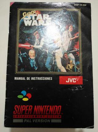 Manual Juego SNES - Super Star Wars