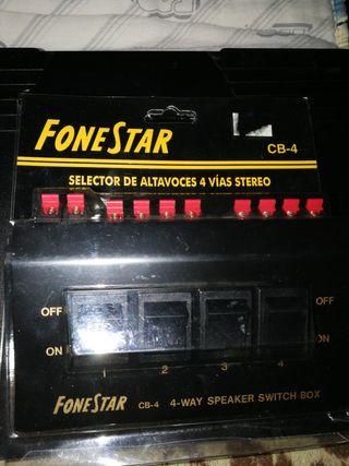 Selector de altavoces 4 vías estéreo. Nuevo.