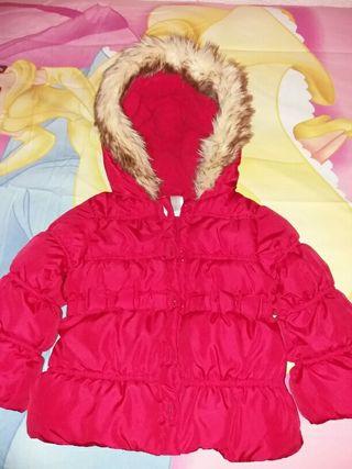 Abrigo nuevo niña talla 2-3 años