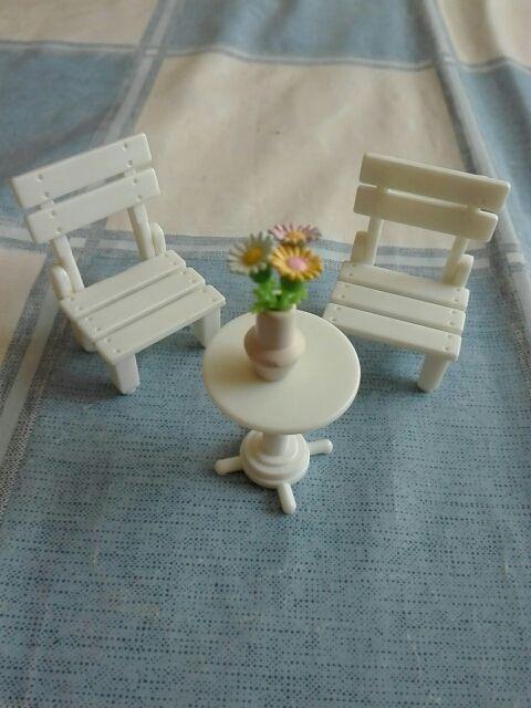 Sylvanian Families mesa y sillas plegables