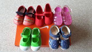 Lote de calzado para niña