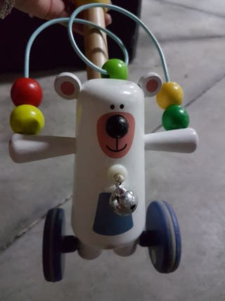 juguete arrastre oso madera