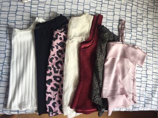 Pack 7 blusas tops camisetas arregladas talla S
