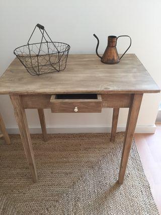 Mesa auxiliar de madera para recibidor o cocina