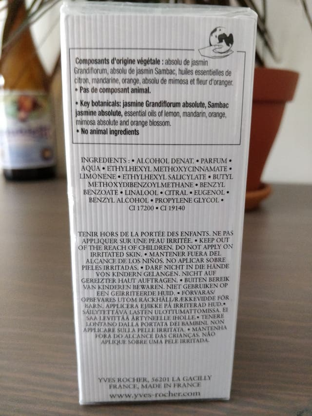 "Eau de Parfum Yves-Rocher ""Tendre Jasmin"" 50 ml"