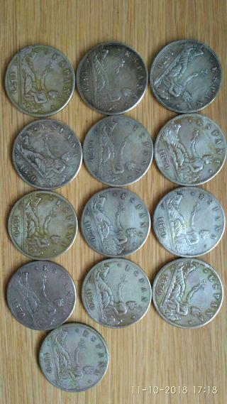 arras.monedas antiguas d plata