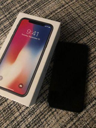 IPhone X impecable, menos de 1 año 64gb negro