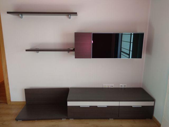 Mueble de comedor con vitrina y 2 estanterías de segunda mano por ...