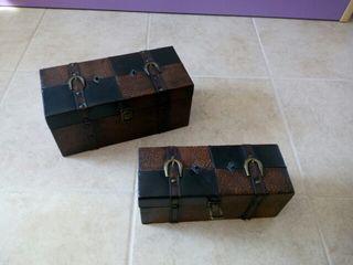 dos cajas madera