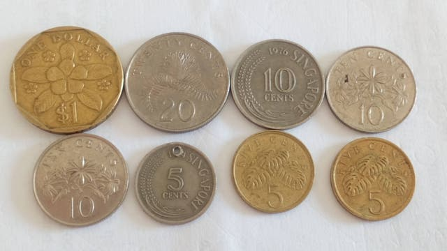 monedas Singapur