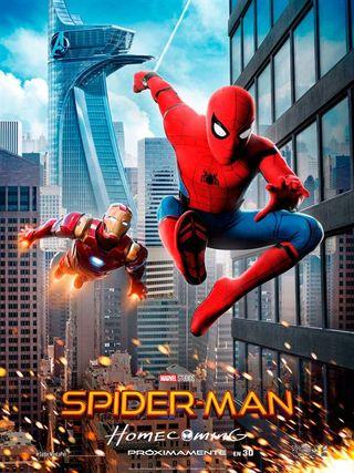 Super gran Cartel Spiderman Homecoming