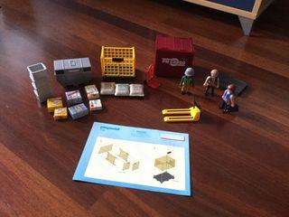 Set carga Playmobil avión, tren, puerto... (5259)