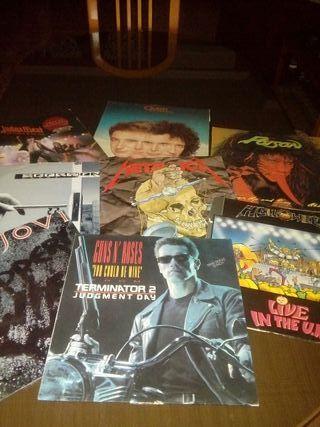 discos vinilo lote heavy metal.