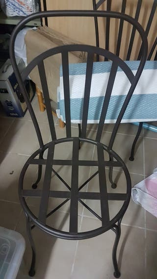 4 sillas de jardin