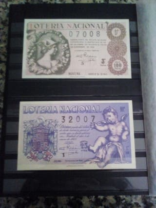 billetes de loteria