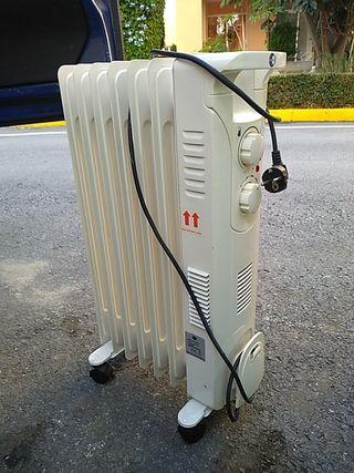 Radiador aceite con ventilación