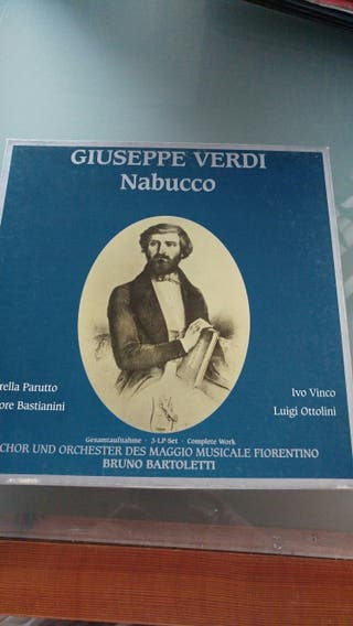 Disco vinilo Giuseppe Verdi. Nabucco