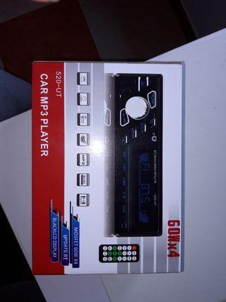 Radio usb bluetooth sd coche 4x60w a estrenar