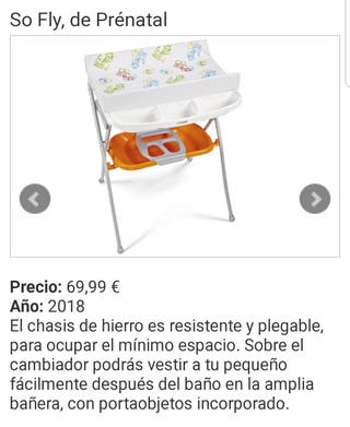 bañera cambiador bebés marca prenatal