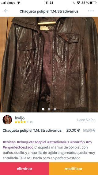 Chaqueta Mano 20 Por M Albaida Piel De En T Stradivarius Segunda € rWqS8rpF