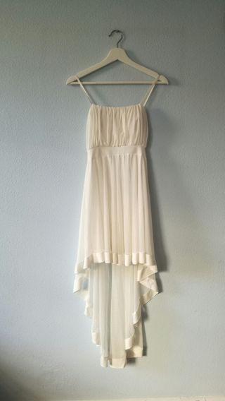 vestido blanco de tul Asos XS-S