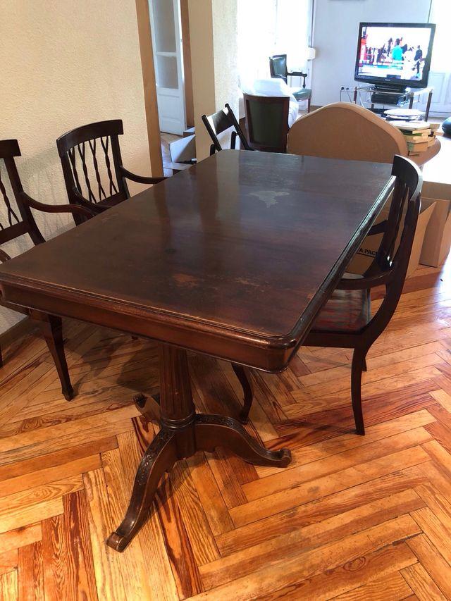 Mesa comedor antigua de madera de segunda mano por 2.600 € en Madrid ...