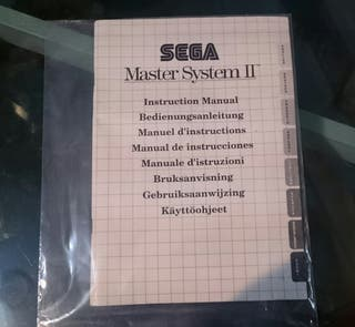 """Manual de instrucciones """"Sega Master System II"""""""