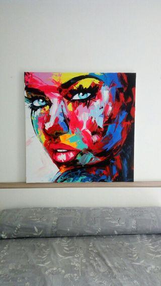 Cuadro pintura chica grande