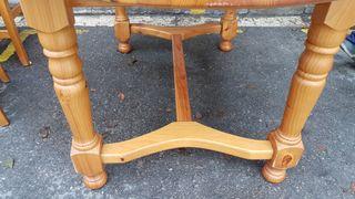 mesa pino ,,sillas opcionales