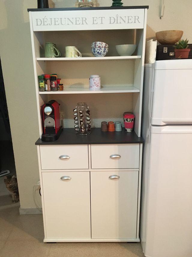Mueble auxiliar cocina como nuevo de segunda mano por 95 € en ...