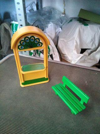 Taquilla y banco Playmobil