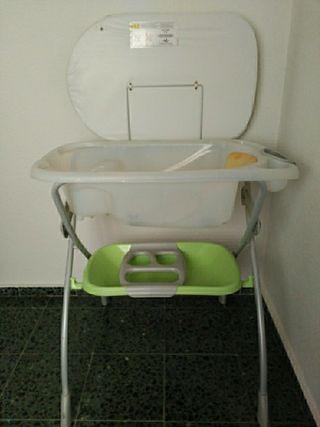 bañera cambiador de bebe
