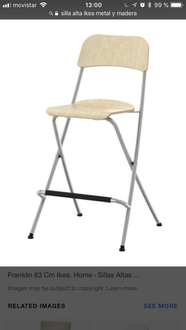 2 sillas de cocina Ikea de segunda mano por 15 € en Barcelona en ...