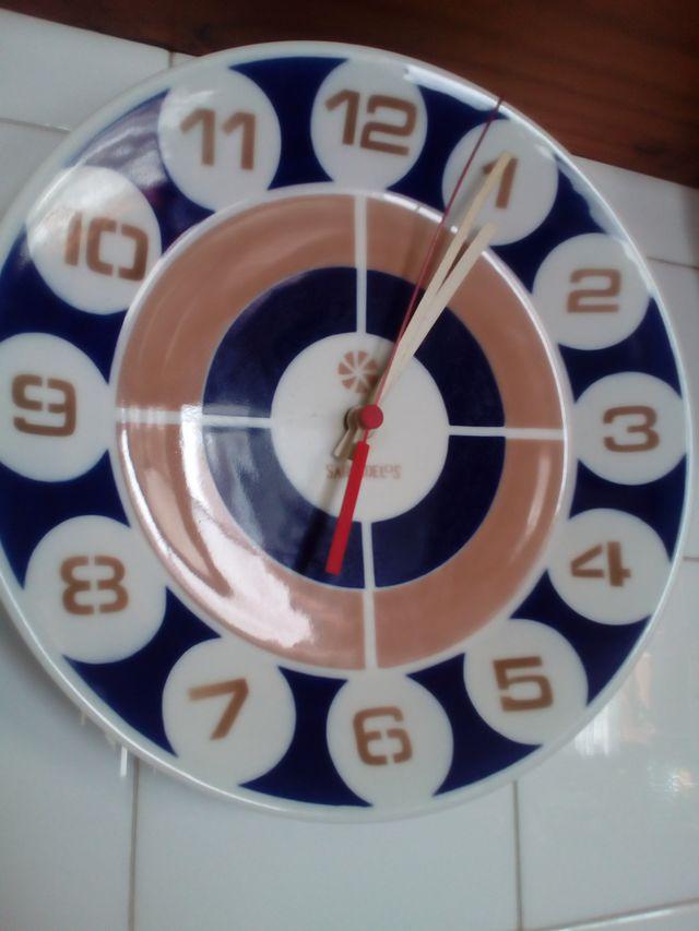 Reloj Plato de Sargadelos