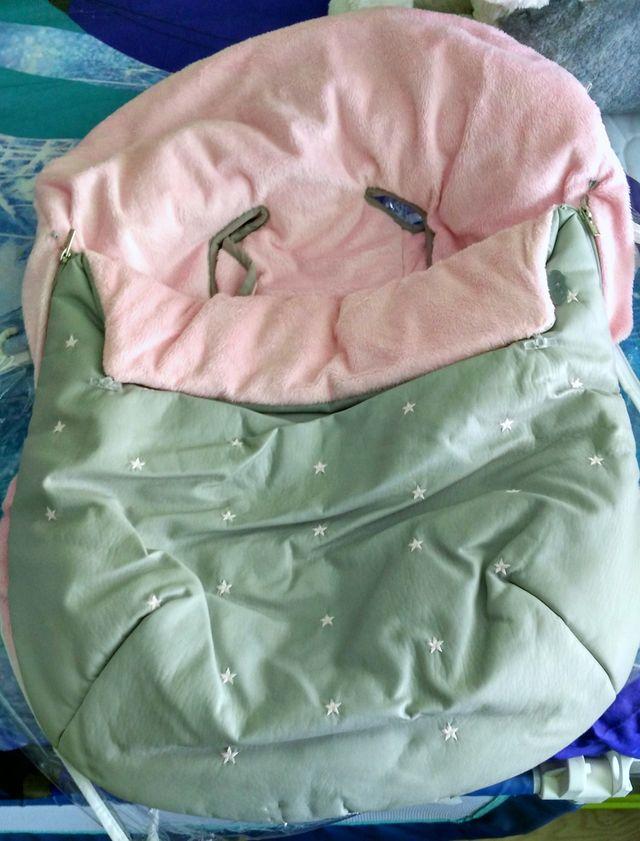 Saco para cuco en rosa y gris