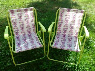 2 sillas de camping niños.
