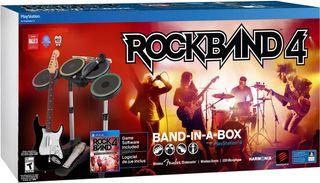 Rock Band PS4 (Guitarra, Batería, Micro y juego)