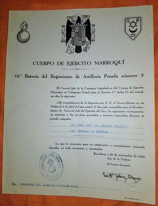 Doc. Concesión Medallas 1939
