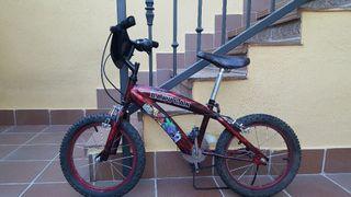 bicicleta y casco de regalo