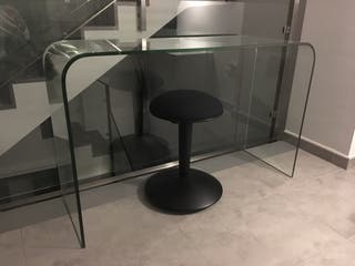Mesa cristal rectangular 120 cm