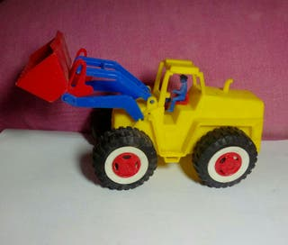 juguete antiguo tractor pala karpan