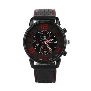 Reloj analógico nuevo rojo