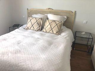 Cabecero cama clásico blanco
